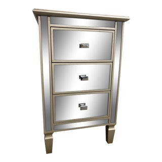 Hollywood Regency Mirrored Chest For Sale