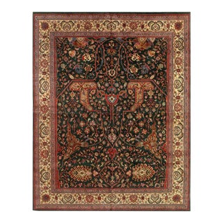 Pasargad Green Persian Hand Knotted Kashan Design Rug 12' X 16'5'' For Sale