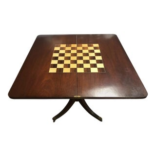 19th Century Boston Federal Mahogany Flip Top Game Table For Sale