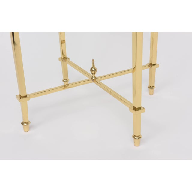 Maison Jansen 1960s Neoclassical Revival Round Brass Side Table For Sale - Image 4 of 10