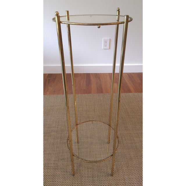 Brass & Glass 2 Tier Plant Stand - Image 2 of 3