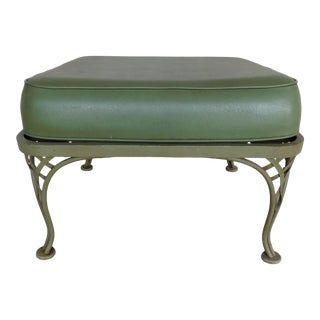 Vintage Russell Woodard Wrought Iron Ottoman For Sale