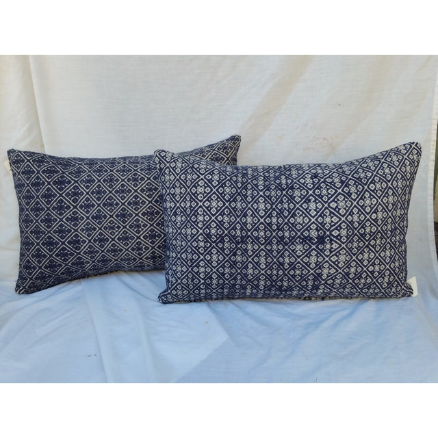 Hill Tribe Silk Embroidered Pillow - A Pair - Image 2 of 6