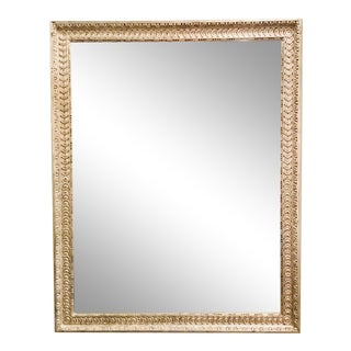 1990s Italian Modern Silver Gilt Wall Mirror For Sale