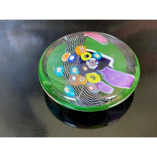 Early 21st Century Millefiori Design Contemporary Hand Blown Glass Disk For Sale - Image 5 of 6