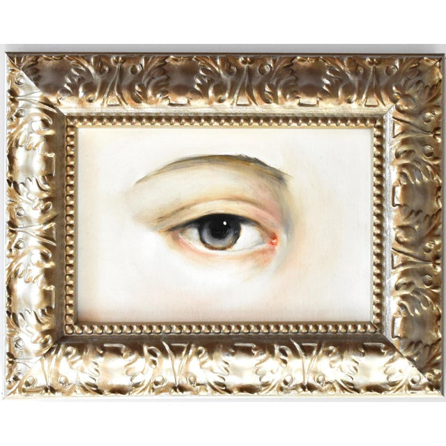 Paint Contemporary Lover's Eye Oil Painting by Susannah Carson For Sale - Image 7 of 7