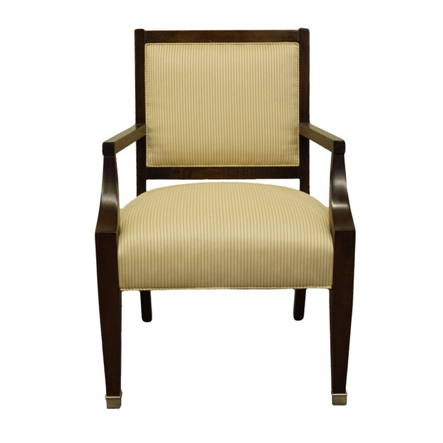 Vintage Lexington Furniture Nautica Home Collection Upholstered Accent Arm Chair For Sale - Image 10 of 10