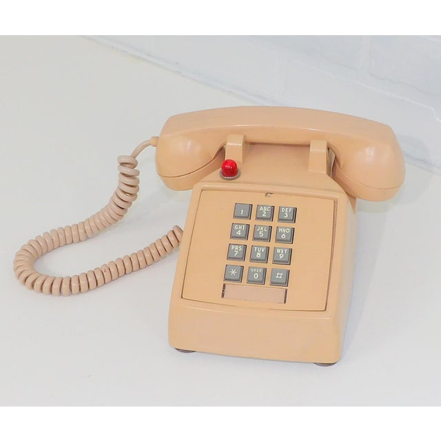Orange 1980's Hotel Guest Touch Tone Telephone For Sale - Image 8 of 8