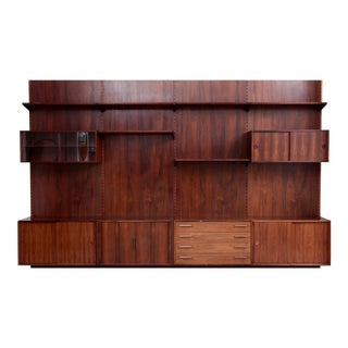 Kai Kristiansen Rosewood Wall Unit for Fm Møbler Denmark, 1960s For Sale