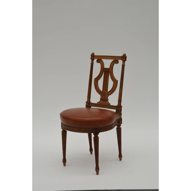 Textile Elegant Neoclassical Side Chair by Maison Jansen For Sale - Image 7 of 7