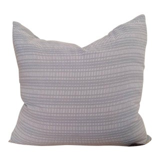 Modernist Cotton Duck Muted Slate Blue Pillow With Feather + Down Insert For Sale