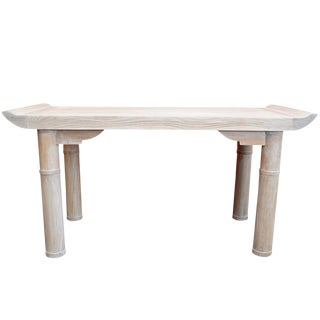 Bleached Wood Console
