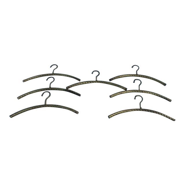 Italian Hollywood Regency Brass Hangers - 7 - Image 1 of 8