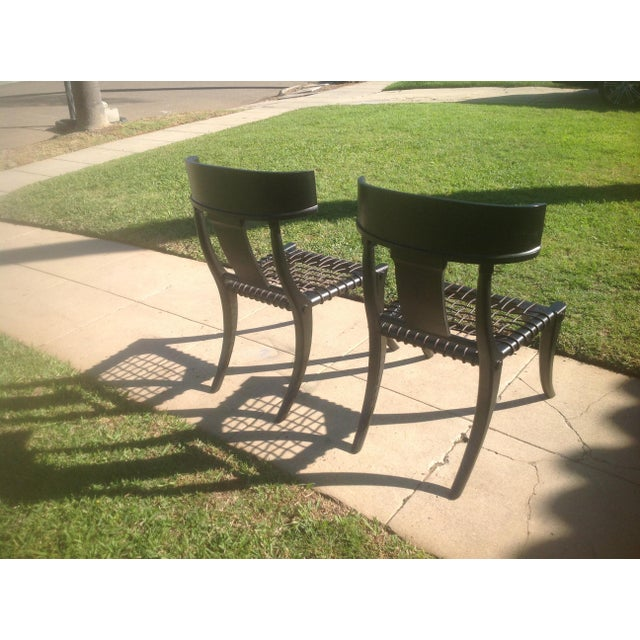 2010s Klismos Ebony Chairs- A Pair For Sale - Image 5 of 6