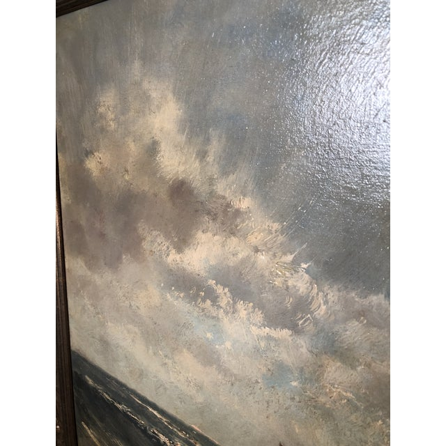 Blue Henriette Hubregtse-Lanzing Antique Dutch Oil Painting, Horse & Fisherman For Sale - Image 8 of 10
