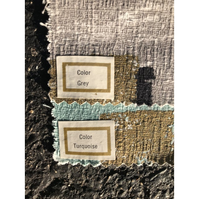 Raymond Loewy 1954 Raymond Loewy Textile Swatch For Sale - Image 4 of 7