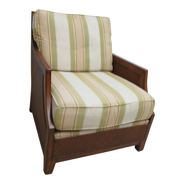 Thomasville Tommy Bahama Style Wicker Lounge Chair For Sale