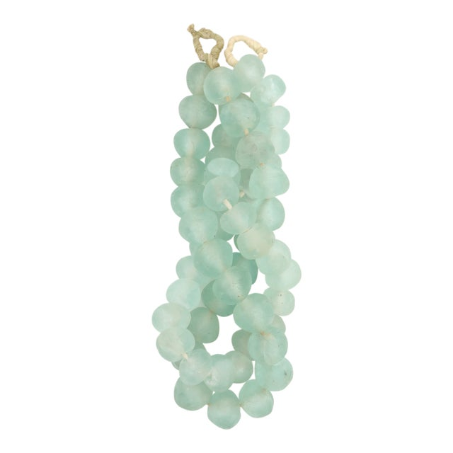 Large Beautiful Beach and Sea Glass Bead Strands - Set of 2 For Sale