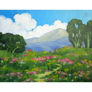 Wild Meadow Santa Cruz California Foothills Landscape For Sale