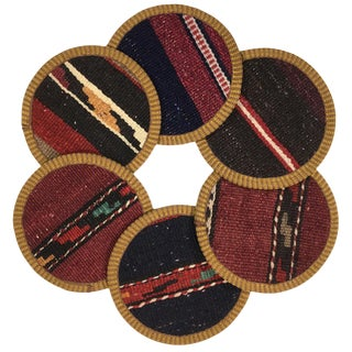 Kilim Coasters Set of 6 | Kebapçı For Sale