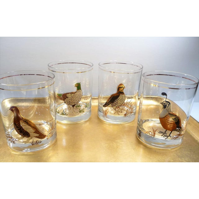 Vintage Mid Century Culver Assorted Game Bird Bar Glasses - Set of 4 - Image 3 of 9