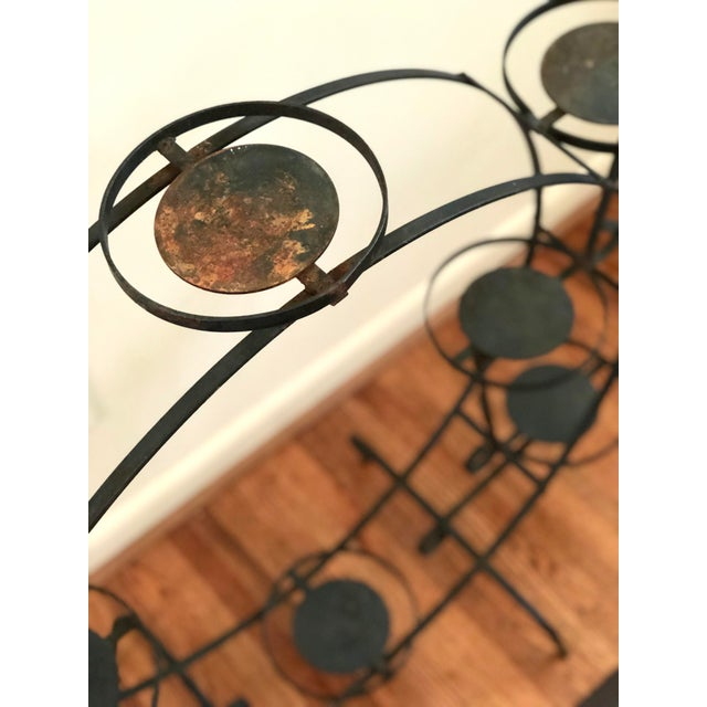 1930s Art Deco Circular Iron Plant Stand For Sale In Atlanta - Image 6 of 11