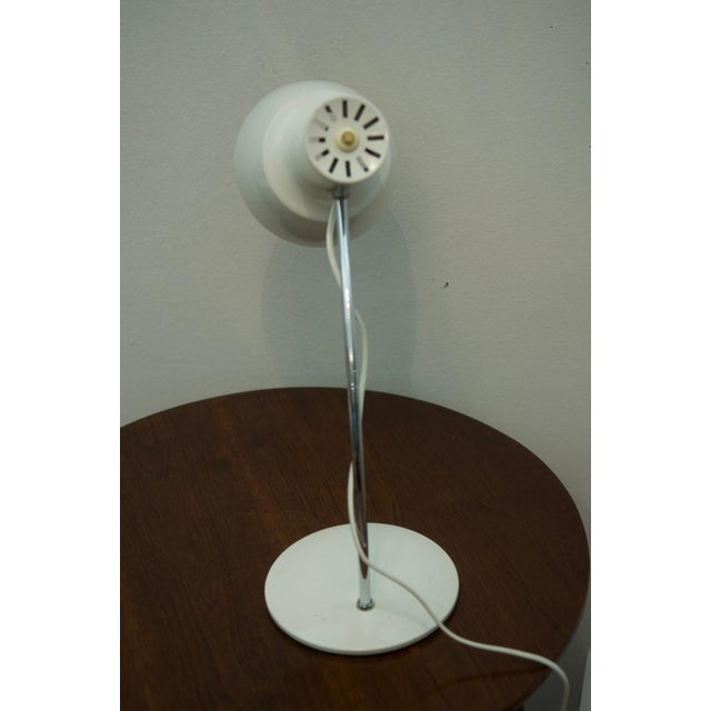Josef Hurka White table lamp by Josef Hurka for Napako For Sale - Image 4 of 8