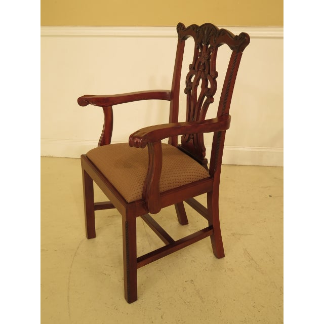 2000 - 2009 Ej Victor Chippendale Style Mahogany Dining Chairs - Set of 8 For Sale - Image 5 of 13