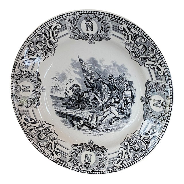 19th Century Boch Freres Napoleonic Plate For Sale
