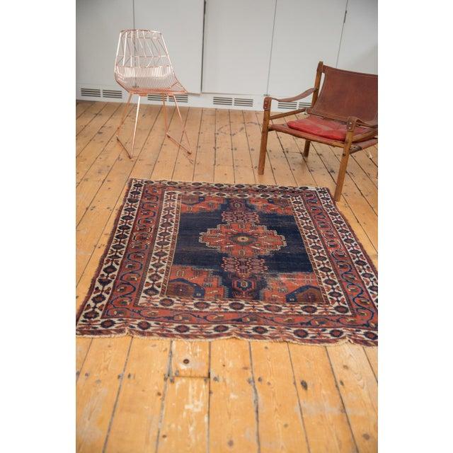 """Antique Fine Afshar Rug - 4'3"""" x 5'2"""" For Sale - Image 10 of 13"""