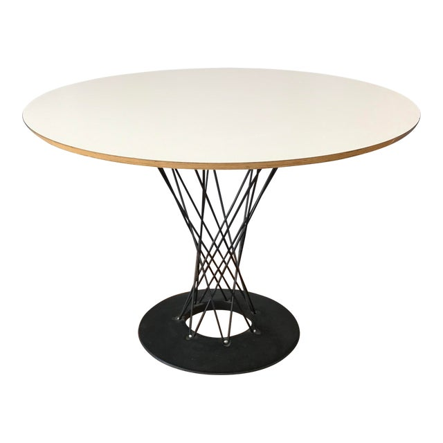 1990s Mid-Century Modern Noguchi Cyclone Dining Table For Sale