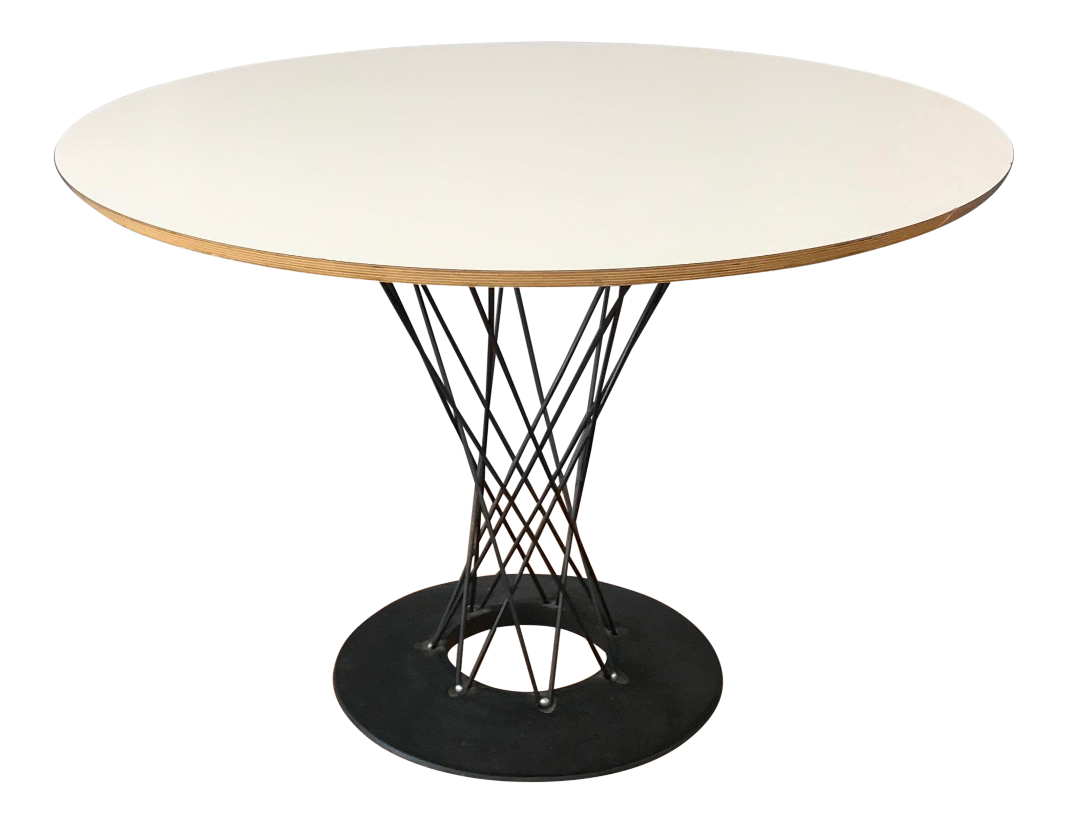 1990s Mid Century Modern Noguchi Cyclone Dining Table
