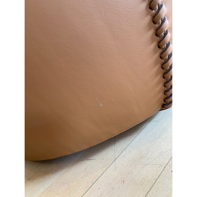 Modern Black Tie Casablanca Pouf For Sale In Chicago - Image 6 of 7
