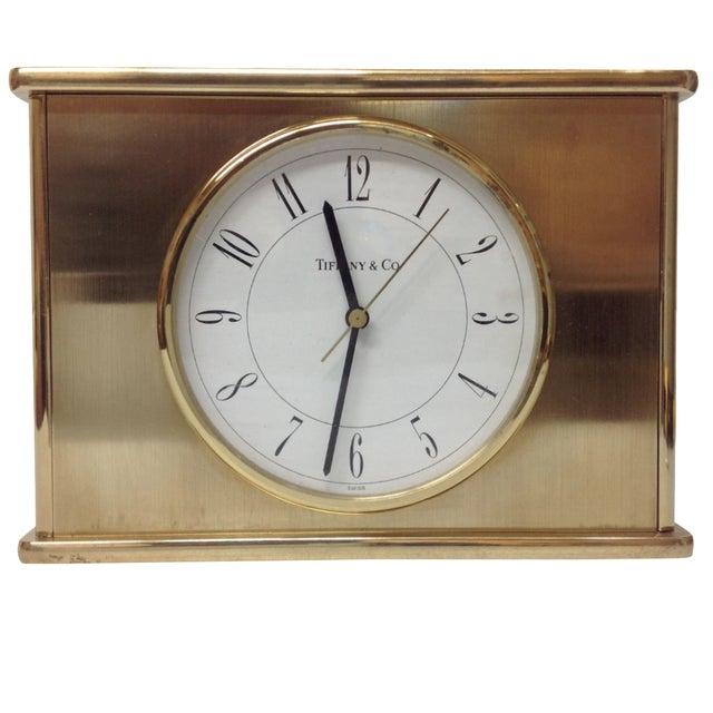 Vintage Tiffany & Co. Brass Mantle Clock - Image 5 of 8