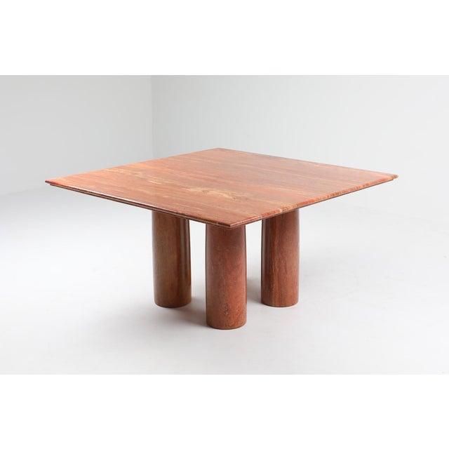Mario Bellini's Red Travertine 'Il Collonato' Dining Table For Sale - Image 10 of 11