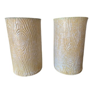 LeBen Faux Bois Vase - A Pair For Sale