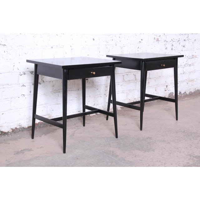Contemporary Paul McCobb Planner Group Nightstands or End Tables - a Pair For Sale - Image 3 of 12