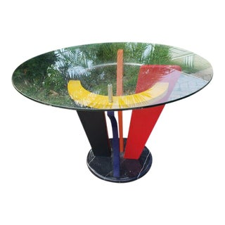 Memphis Postmodern Design Dining Table For Sale