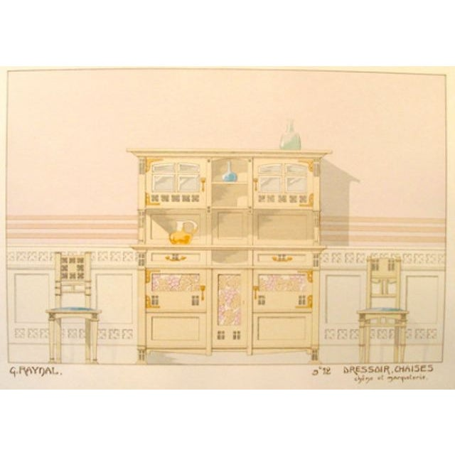 "A circa 1900 French decorator sheet - interior/dresser. Size: 13.25 x 18 Artist: G. Raynal About The Poster: From the ""Le..."