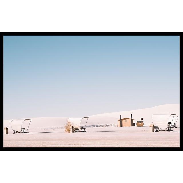 Contemporary White Sands Landscape Original Framed Photograph For Sale - Image 3 of 6