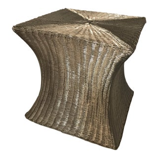 Modern Woven Wire Stool For Sale