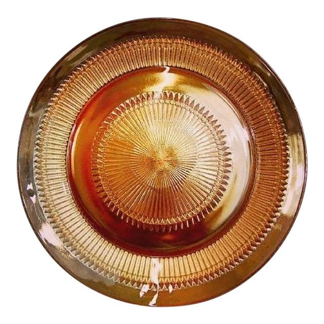 1950s Jeannette Sandwich Platter Anniversary Iridescent Carnival Glass For Sale