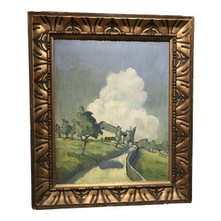 Early 20th Century Antique Landscape Painting For Sale