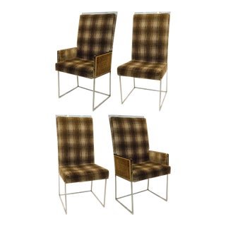 Set of 4 Milo Baughman Dining Chairs For Sale