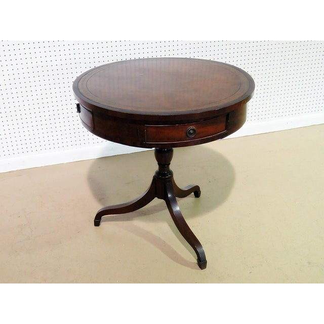 Brown 19thC English Revolving Drum Table For Sale - Image 8 of 8
