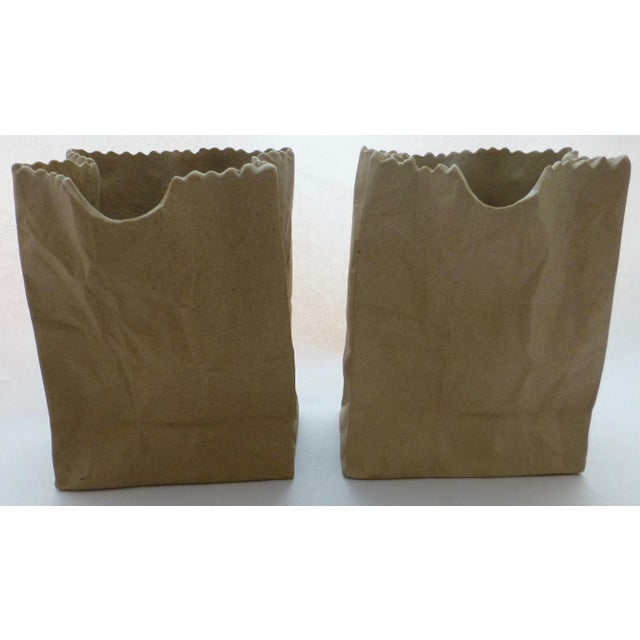 Tapio Wirkkala Rosenthal Paper Bag Vases- A Pair For Sale - Image 10 of 10