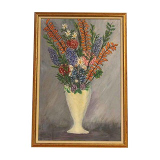 Framed Floral Oil Painting For Sale