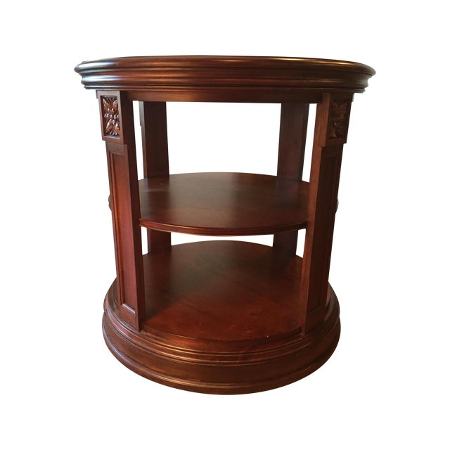 Ethan Allen Starburst Library Table - Image 1 of 4