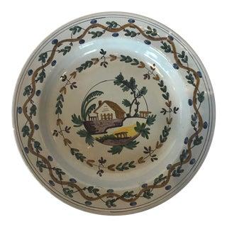 Vintage Delft Charger Plate For Sale