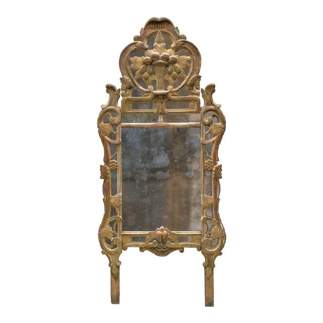 18th Century Louis XV Carved Gilt Wood Mirrors, Exceptionnel Set of Three. For Sale - Image 13 of 13